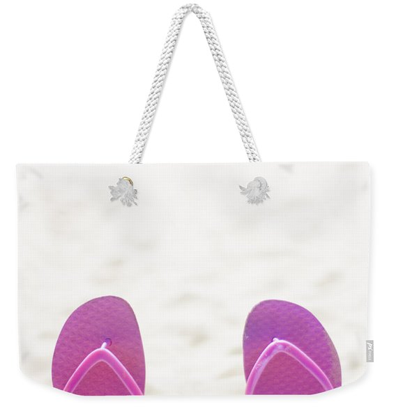 Seaside Holiday Concept With Copyspace Weekender Tote Bag