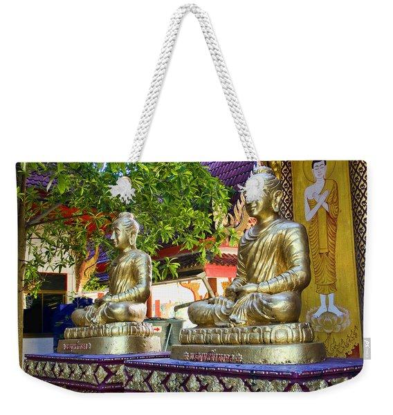Seated Buddhas Weekender Tote Bag