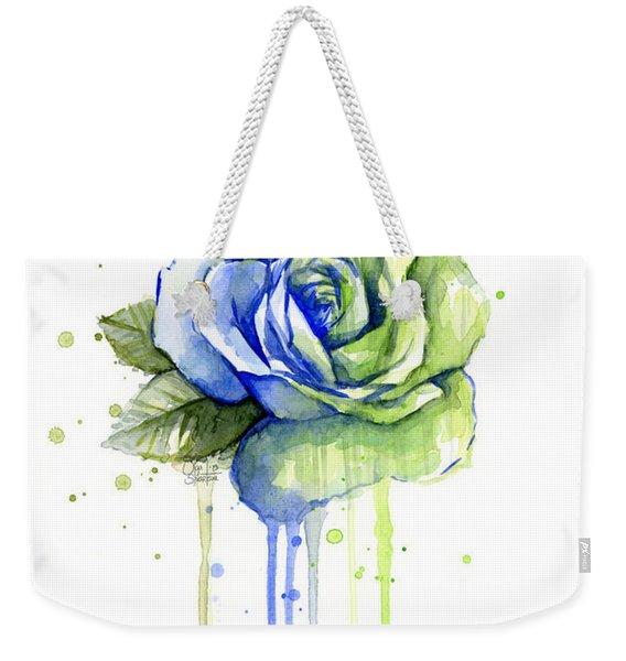 Seattle 12th Man Seahawks Watercolor Rose Weekender Tote Bag