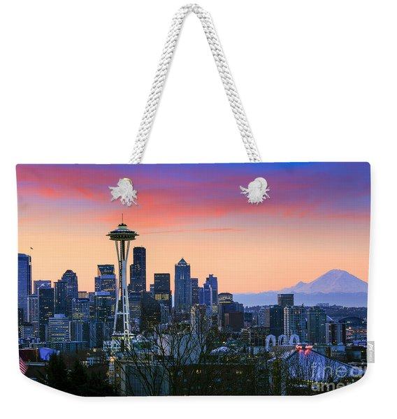 Seattle Waking Up Weekender Tote Bag
