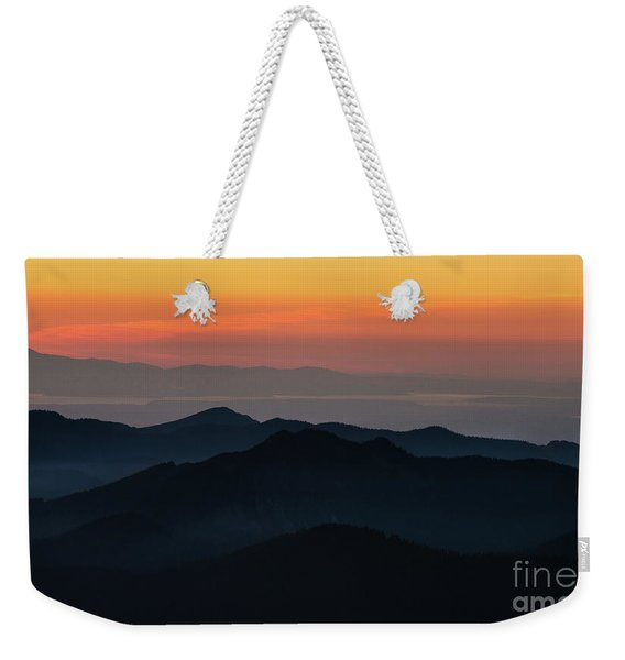 Seattle Puget Sound And The Olympics Sunset Layers Landscape Weekender Tote Bag
