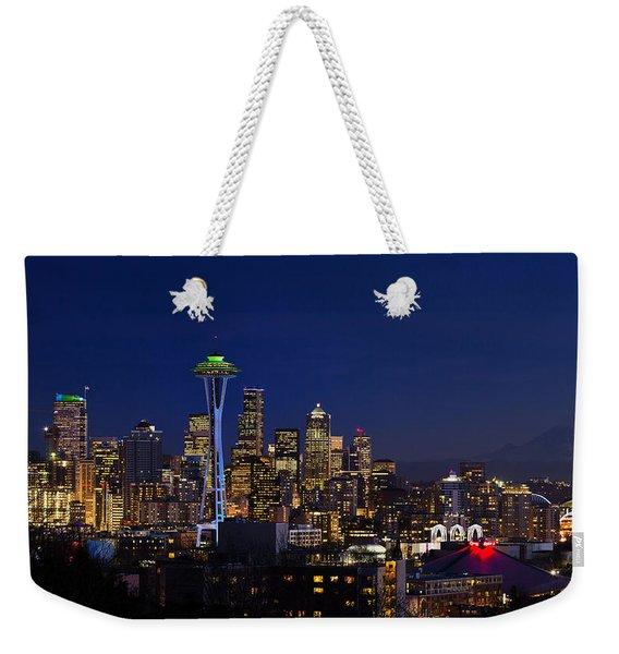Seattle Seahawks Space Needle Weekender Tote Bag