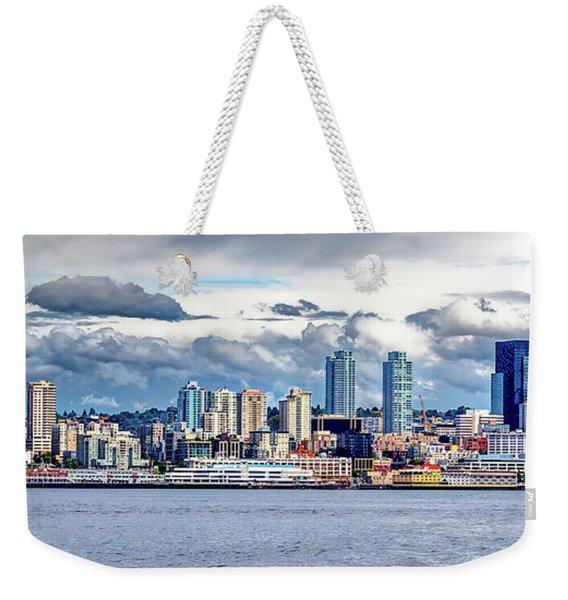 Seattle Skyline Hdr Weekender Tote Bag