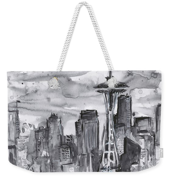 Seattle Skyline Space Needle Weekender Tote Bag