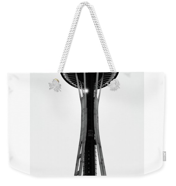 Weekender Tote Bag featuring the photograph Seattle Space Needle by Michael Hope