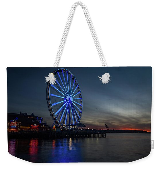 Seattle Sunset Weekender Tote Bag