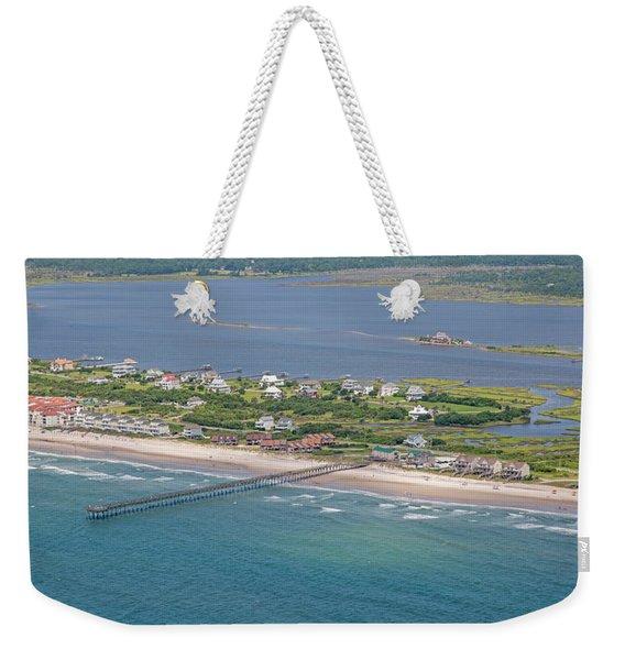 Seaview Fishing Pier Topsail Island Weekender Tote Bag