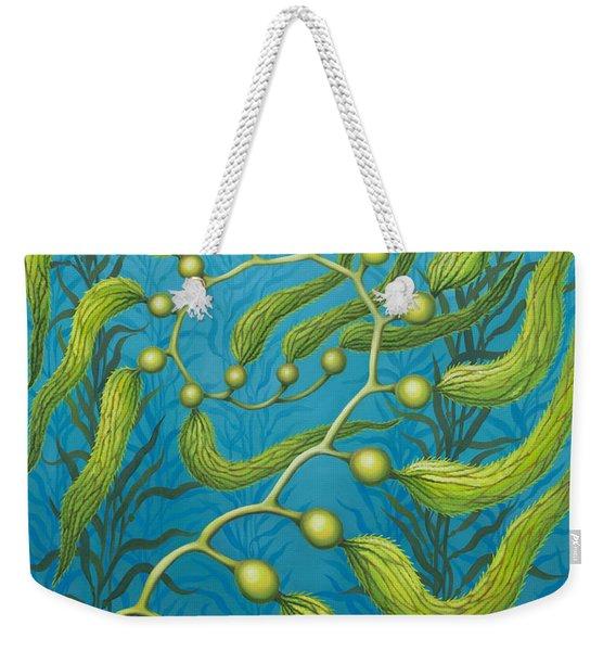 Seaweed Spiral Weekender Tote Bag