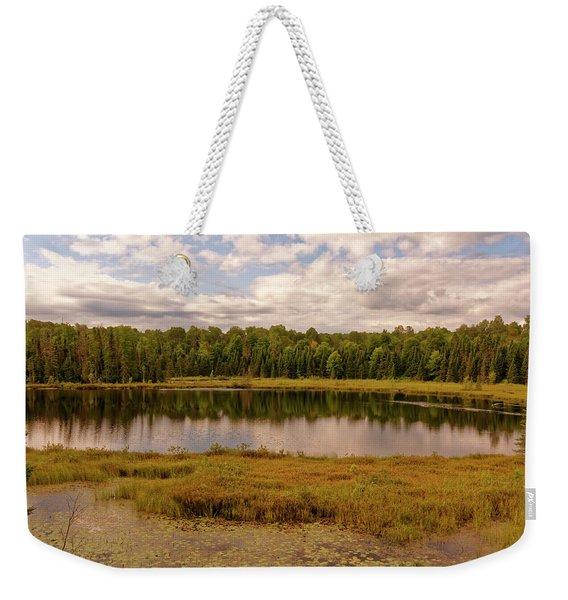 Secluded Lake Weekender Tote Bag