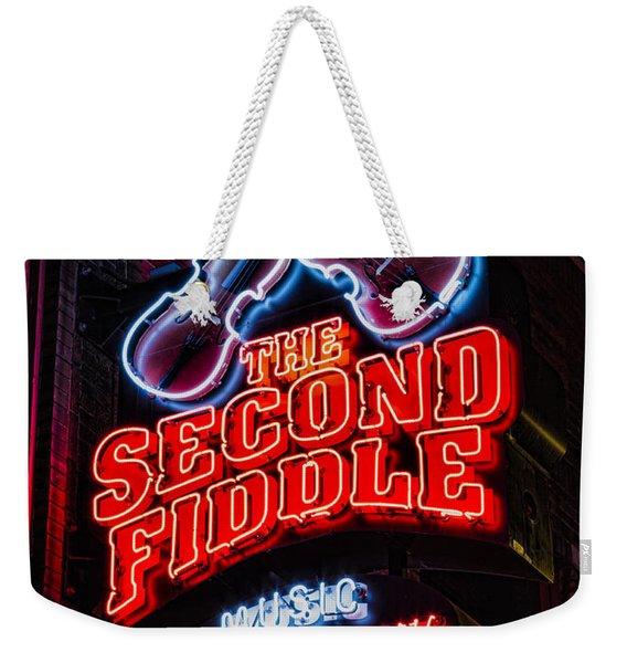 Second Fiddle Weekender Tote Bag