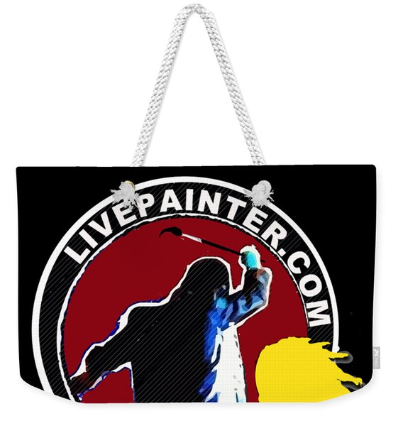second Official Live Painter Logo  Weekender Tote Bag