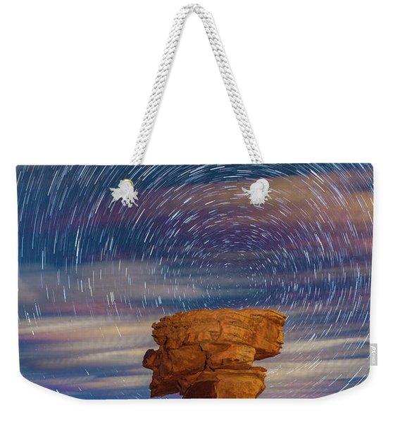 Secret Spire And Star Trails Weekender Tote Bag