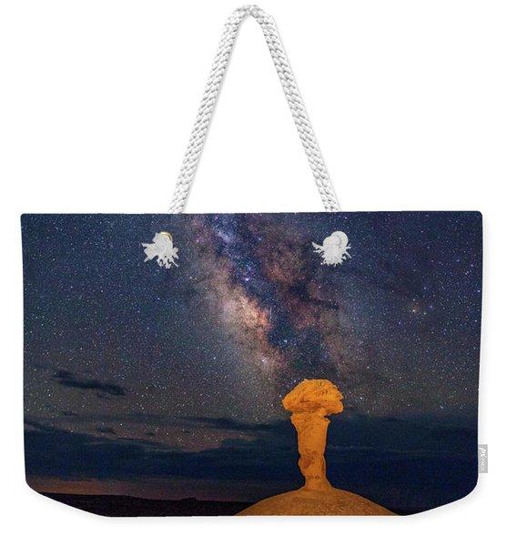 Secret Spire And The Milky Way Vertical Weekender Tote Bag
