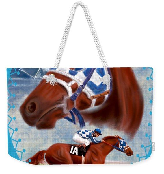Secretariat Racehorse Portrait Weekender Tote Bag