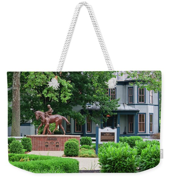 Secretariat Statue At The Kentucky Horse Park Weekender Tote Bag