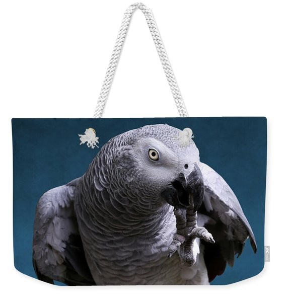 Secretive Gray Parrot Weekender Tote Bag