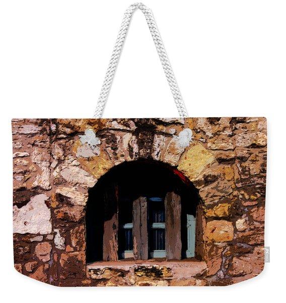 Secured--the Alamo Weekender Tote Bag