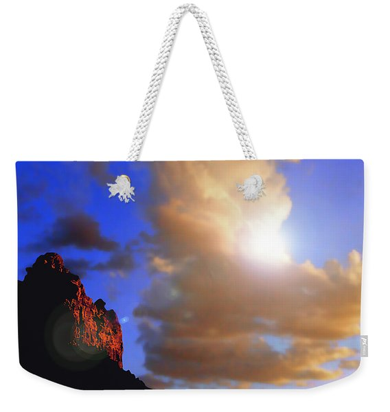 Sedona Mountain Cloud Sun Weekender Tote Bag