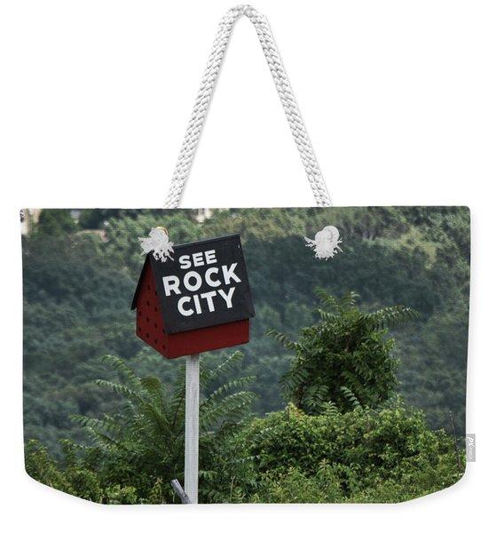 See Rock City Weekender Tote Bag