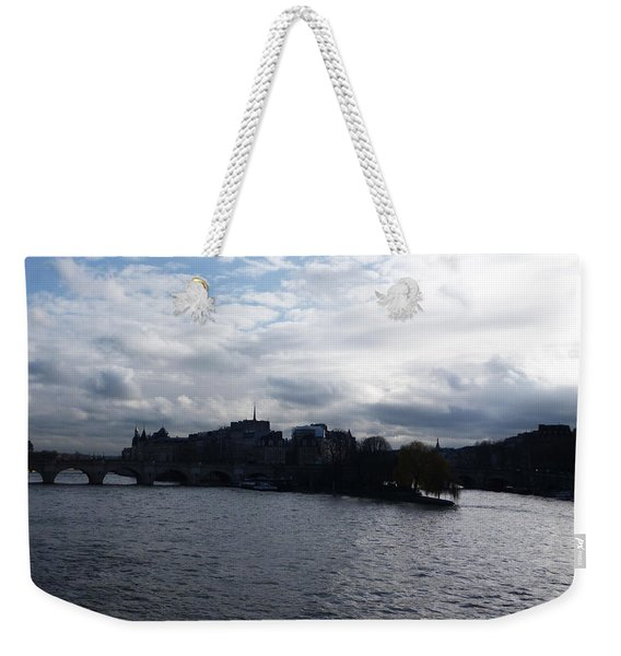 Seine River In Winter Weekender Tote Bag