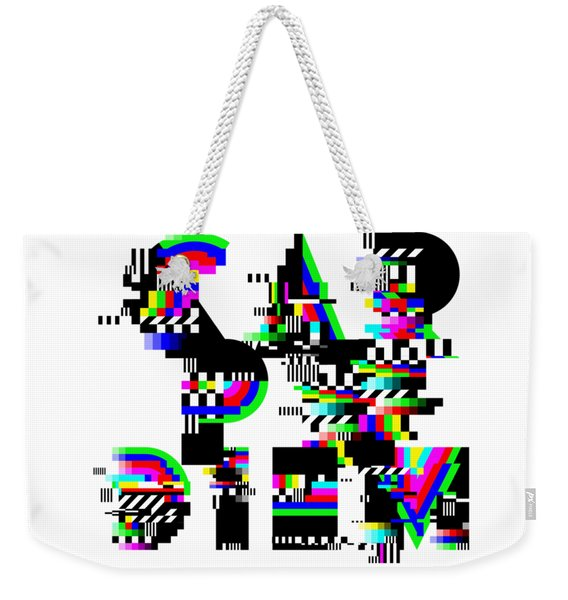 Weekender Tote Bag featuring the digital art Seize The Day by Bee-Bee Deigner