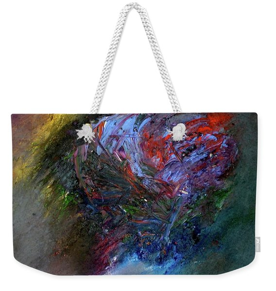 Weekender Tote Bag featuring the painting Self  Portrait  by Michael Lucarelli