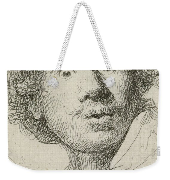 Self-portrait With Beret And Wide-eyed, 1630 Weekender Tote Bag