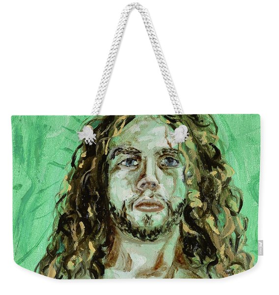 Self Portrait -with Emerald Green And Mummy Brown- Weekender Tote Bag