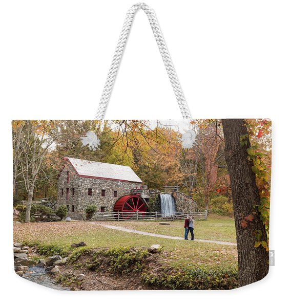 Selfie In Autumn Weekender Tote Bag