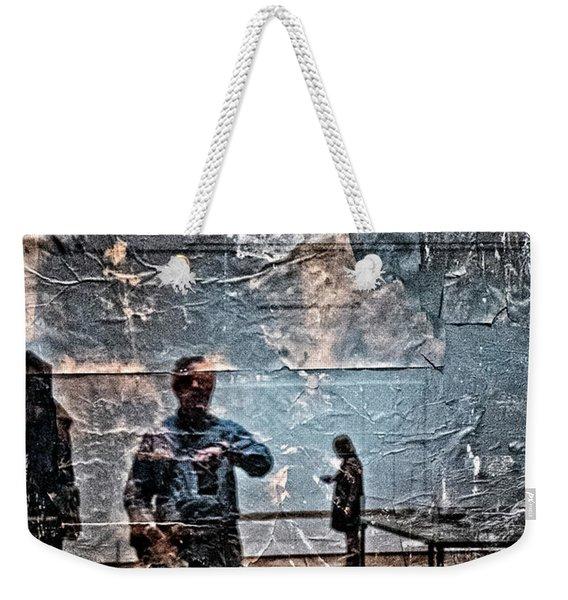 Selfie In Black Painting Weekender Tote Bag
