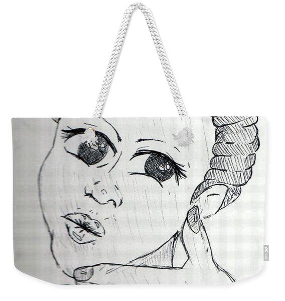 Selfy Weekender Tote Bag