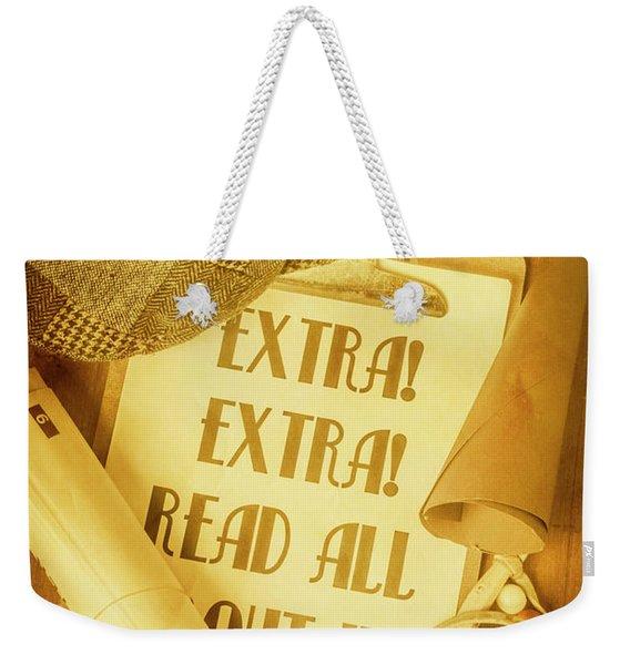 Selling The News Weekender Tote Bag