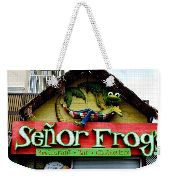 Senor Frogs Weekender Tote Bag