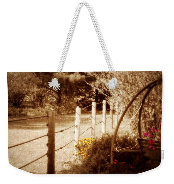 Sepia Garden Weekender Tote Bag