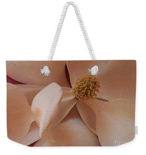Sepia Magnolia Macro Weekender Tote Bag