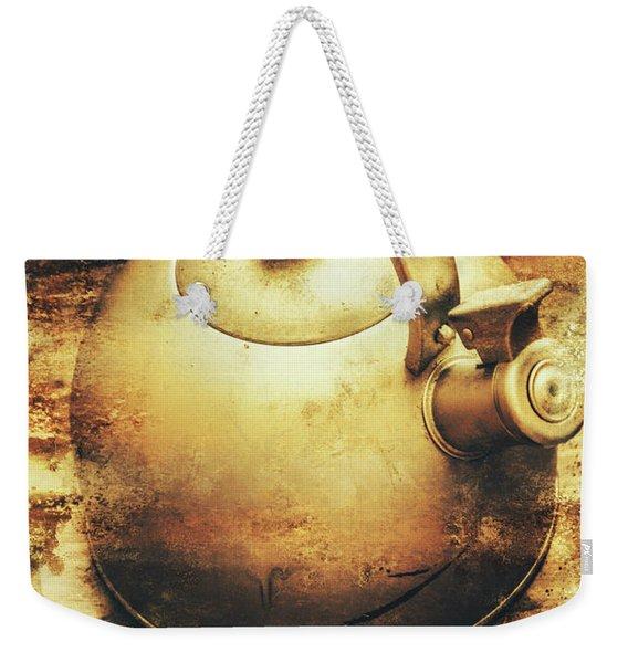Sepia Toned Old Vintage Domed Kettle Weekender Tote Bag