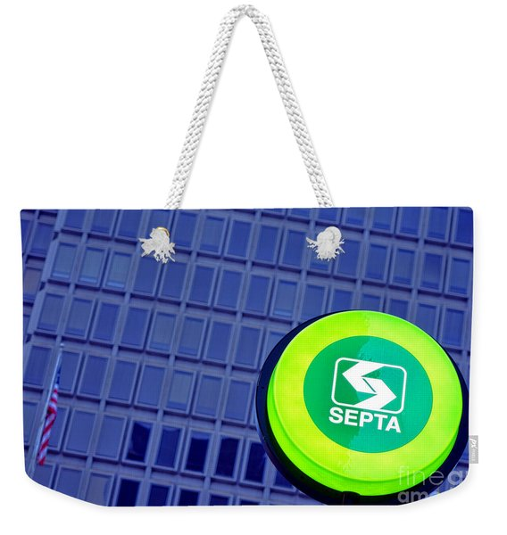 Septa Sign Weekender Tote Bag