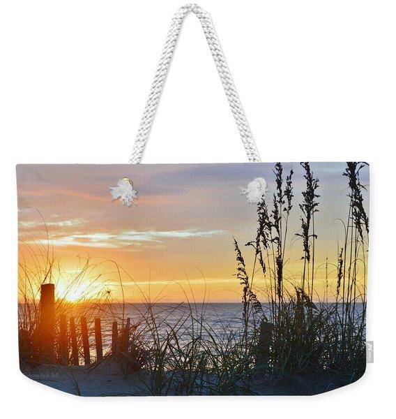September 27th Obx Sunrise Weekender Tote Bag