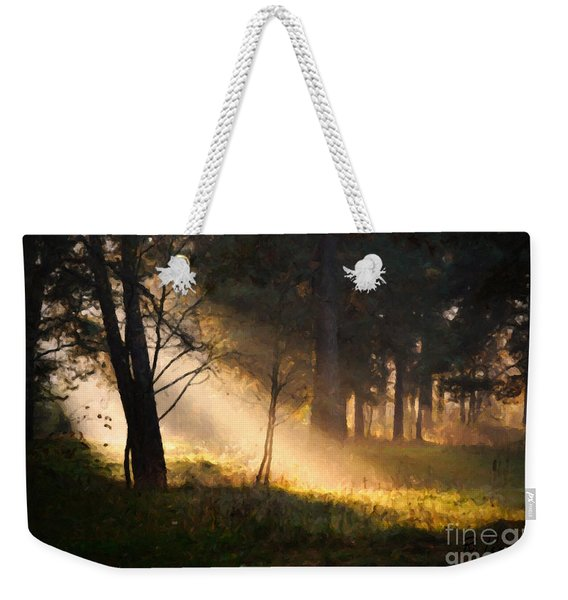 Weekender Tote Bag featuring the painting September Impressions by Rosario Piazza