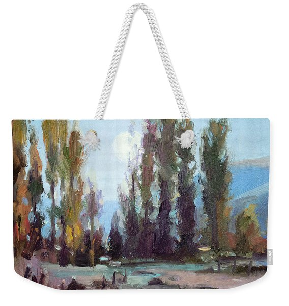 September Moon Weekender Tote Bag