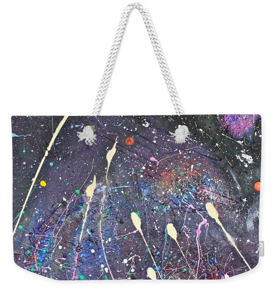 Weekender Tote Bag featuring the painting Septuplets by Michael Lucarelli