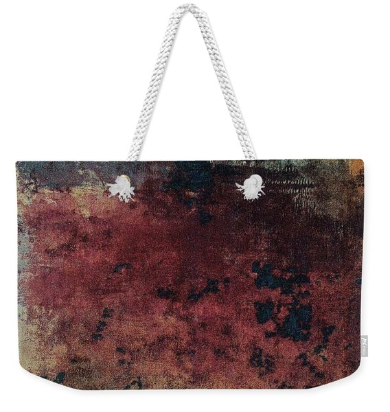 Weekender Tote Bag featuring the mixed media Ser. 1 #03 by Writermore Arts