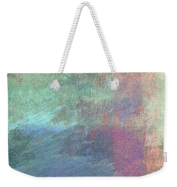 Weekender Tote Bag featuring the mixed media Ser. 1 #04 by Writermore Arts
