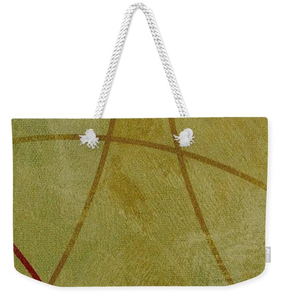 Weekender Tote Bag featuring the mixed media Ser. 1 #06 by Writermore Arts