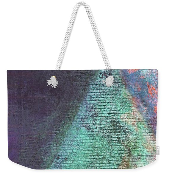 Weekender Tote Bag featuring the mixed media Ser. 1 #07 by Writermore Arts