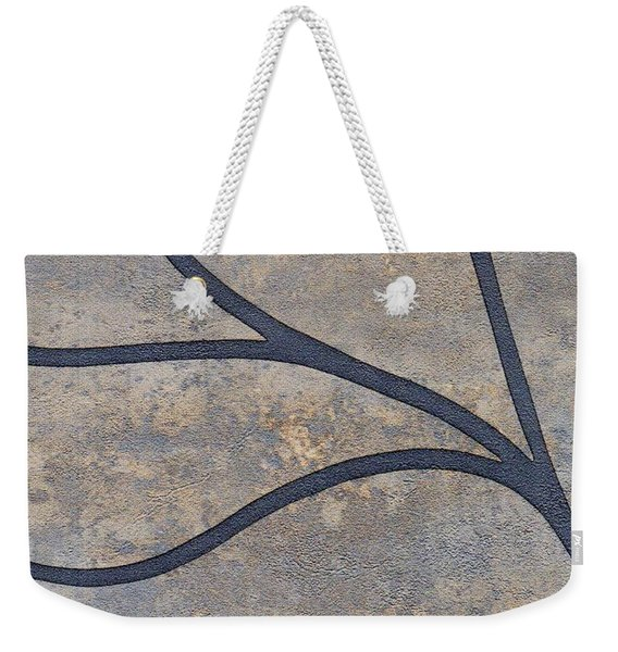 Weekender Tote Bag featuring the mixed media Ser. 2 #01 by Writermore Arts