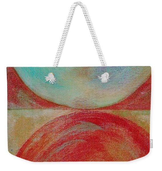Weekender Tote Bag featuring the mixed media Ser.2 #02 by Writermore Arts