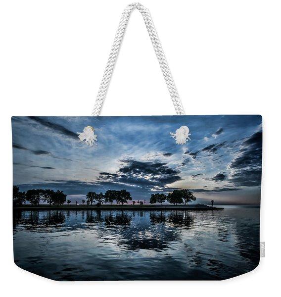 Serene Summer Water And Clouds Weekender Tote Bag
