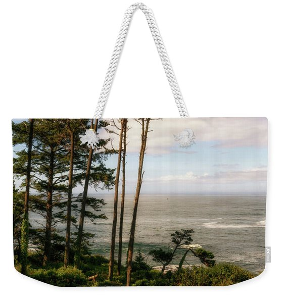 Weekender Tote Bag featuring the photograph Serenity At Depoe by Michael Hope