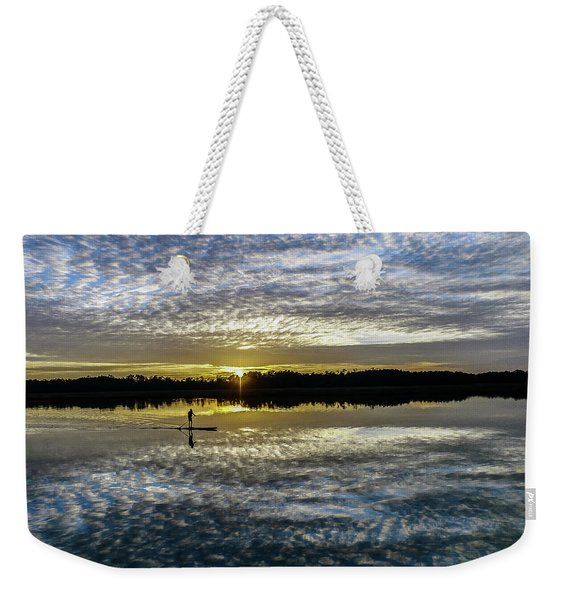 Serenity On A Paddleboard Weekender Tote Bag